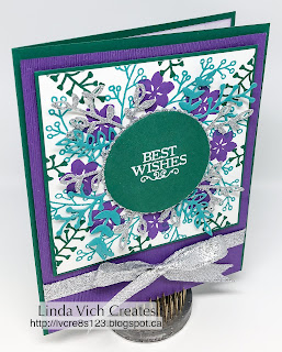 Linda Vich Creates: Best Wishes with Subtle Texture. Bold and bright and full of best wishes, this card uses the Subtle Embossing Folder as well as Love What You Do and Colorful Seasons.