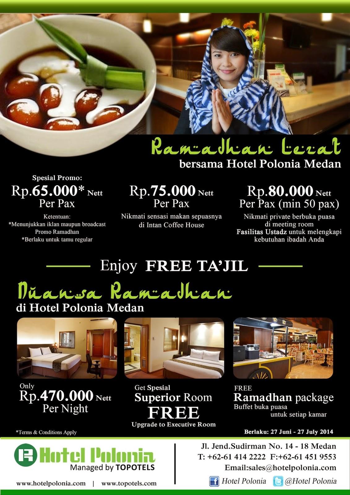 Paket Ramadhan Lezat Ala Hotel Polonia Medan