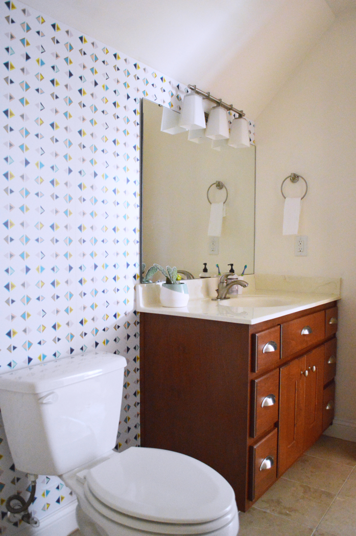 Design Addict Mom A Bathroom Update With Removable