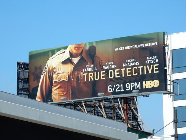 True Detective season 2 Taylor Kitsch billboard