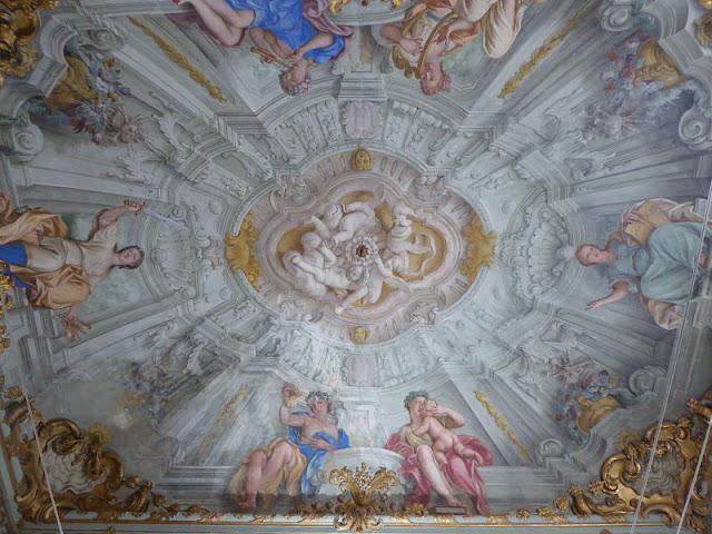 affresco con le 6 muse delle arti palazzo franzone spinola