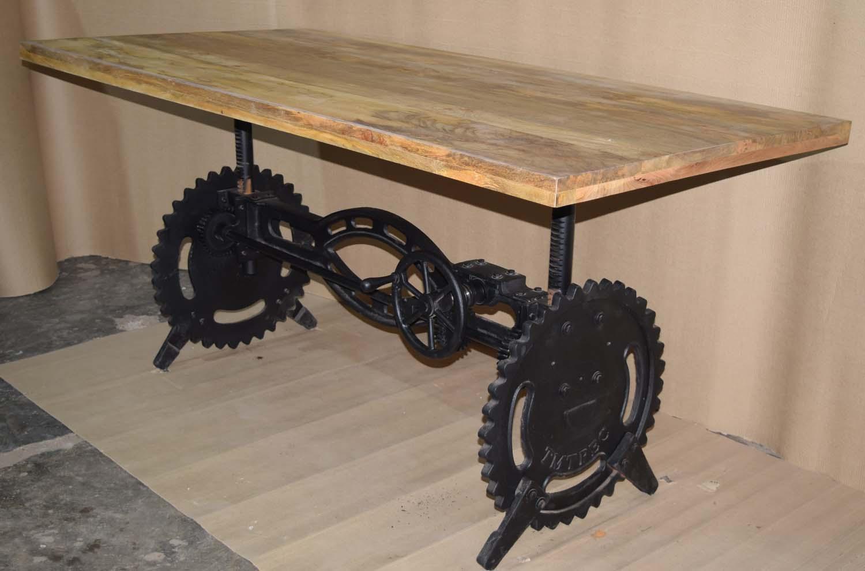 Round Cast Iron Side Base, New Design Heavy Cast Iron Crank Table