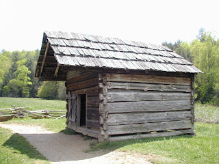 The smokehouse/meathouse at the Dan Lawson place.