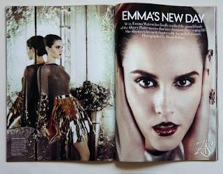 Emma Watson Vogue USA July 2011 Lipiec