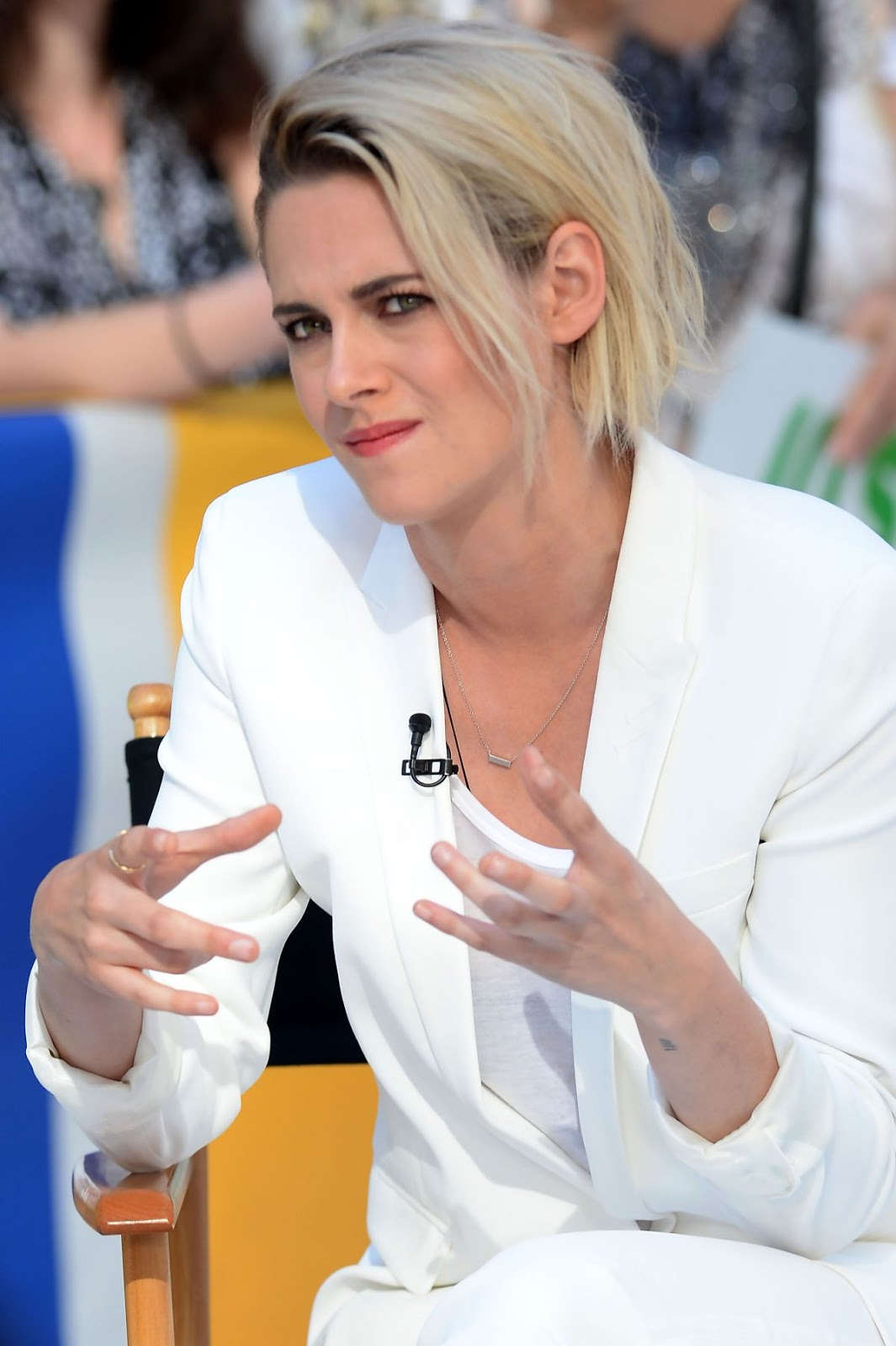 Kristen Stewart On The Set Of Good Morning America