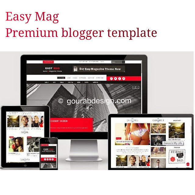 Easy mag premium blogger template