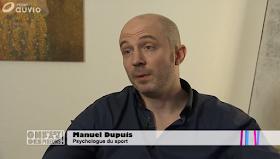 Manuel Dupuis, psychologue du sport et préparateur mental, interrogé sur la RTBF 1