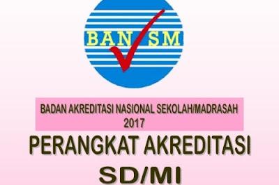 Perangkat Akreditasi untuk SD/MI Tahun 2017 yang bersumber dari Badan Akreditasi Nasional (BAN/SM)