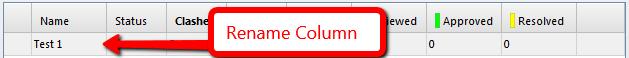 Rename column in clash test in Navisworks