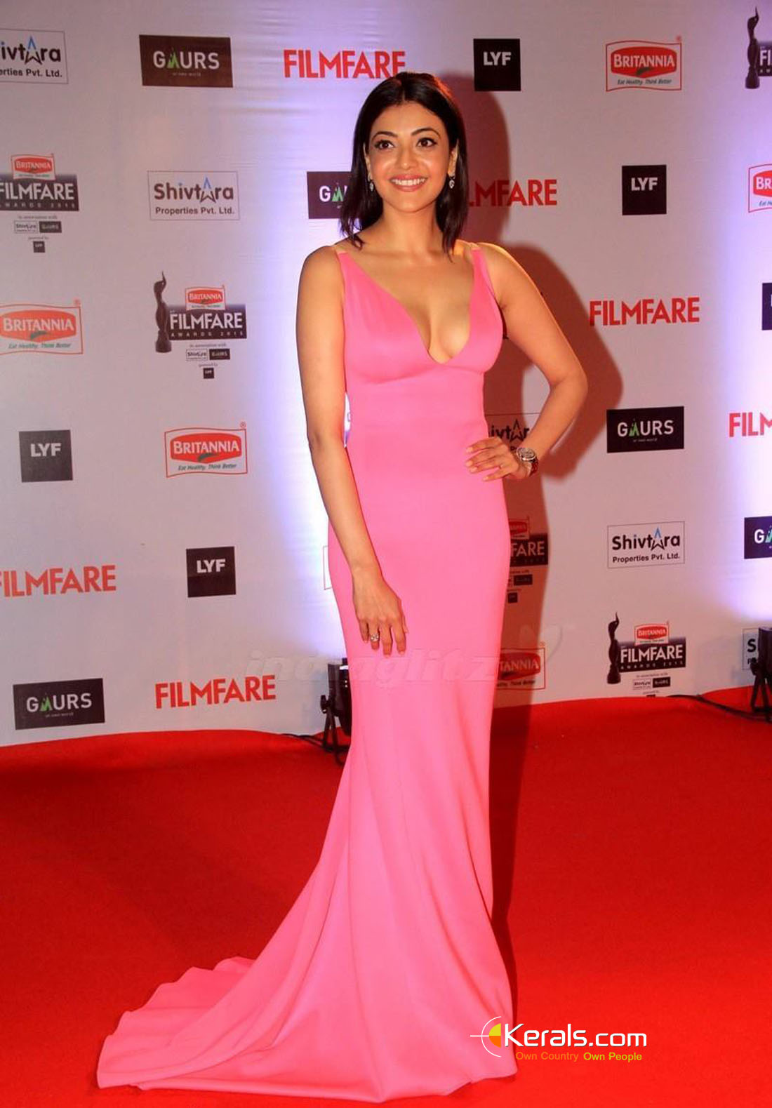 Sexy240 Hot And Sexy Kajal Aggarwal Pink Gown Ultra Hd -1517