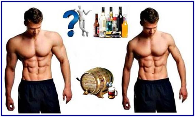 Drinking alcohol is not good for your muscles