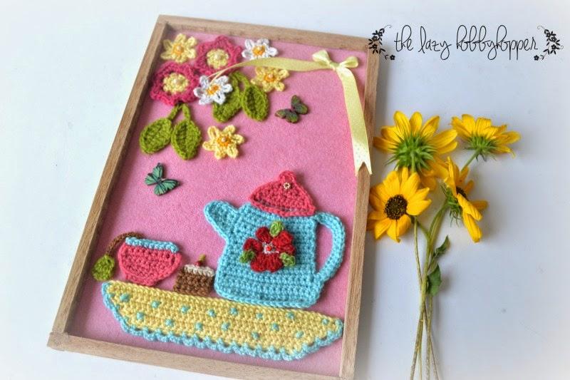 The Lazy Hobbyhopper Teatime Crochet Wall Art