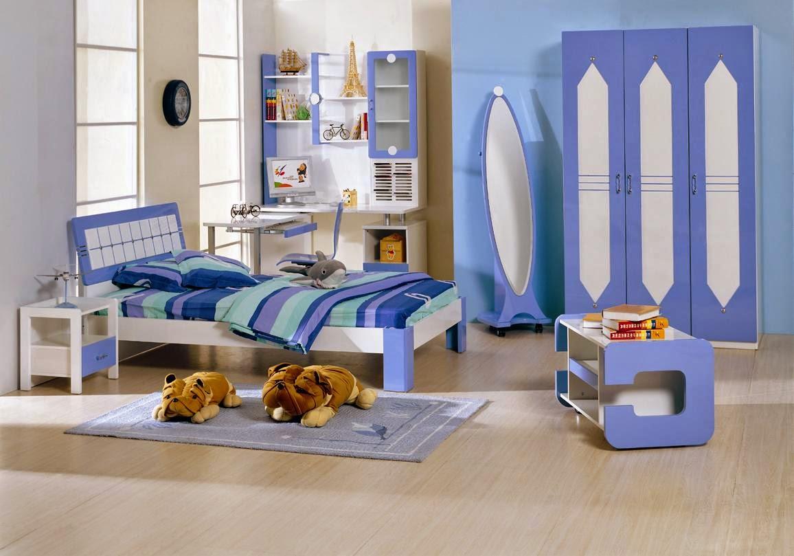 Dormitorio niño color azul