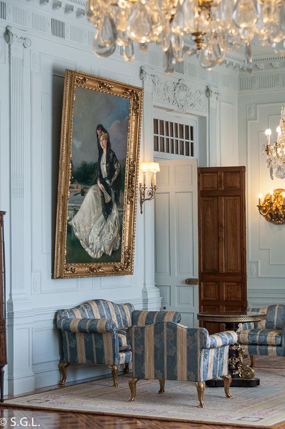 Victoria Eugenia con mantilla, por Joaquín Sorolla. Palacio Magdalena. Santander