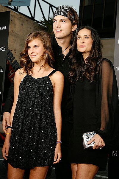 Tallulah Willis, Demi Moore and Ashton Kutcher