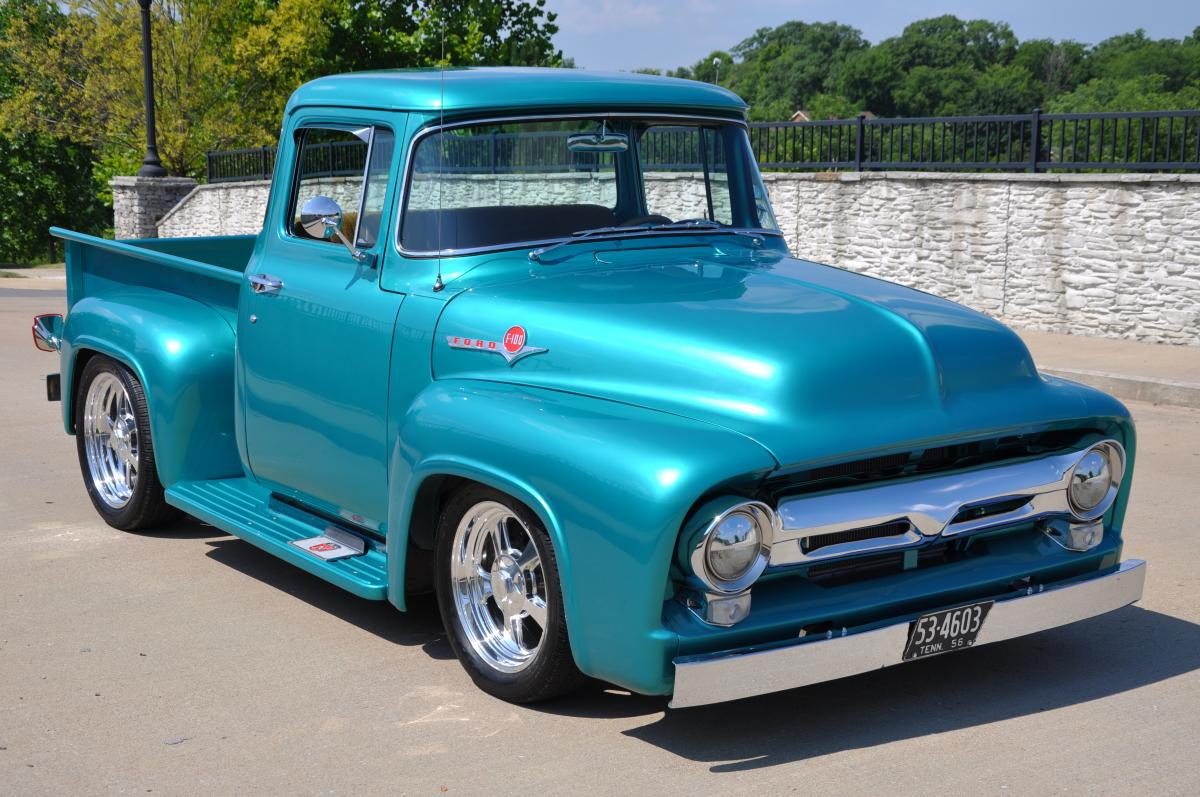 1956 Ford F100 Hot Rods Street Pickup Pictures Autogado 1955 History Picture Wallpaper 1