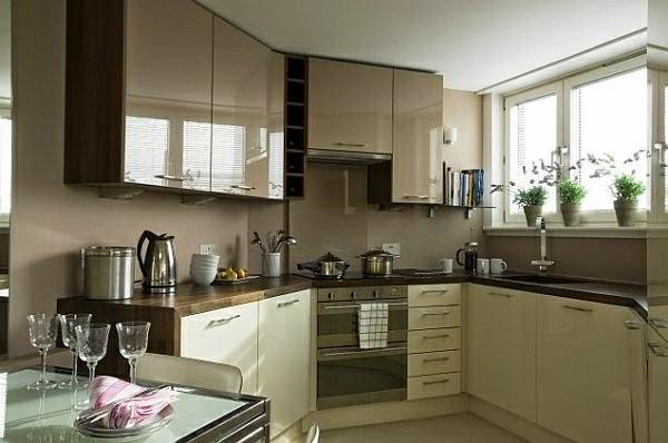 Modernas cocinas peque as colores en casa - Cocina moderna pequena ...