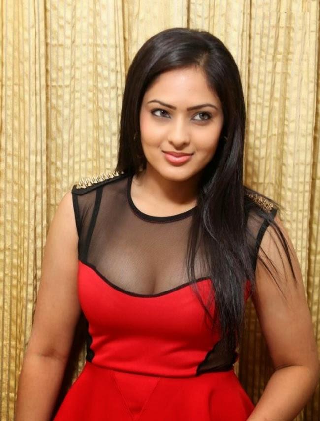 Slicypics Indian Actress Tamanna Bhatia Photos: Nikesha Patel Hot Boobs Expose In Red Transparent Blouse