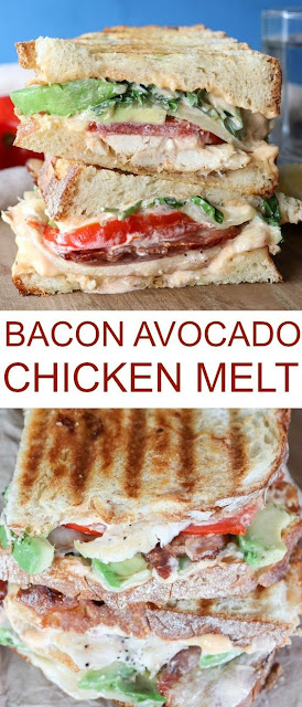 Chicken Avocado Bacon Sandwich Melt