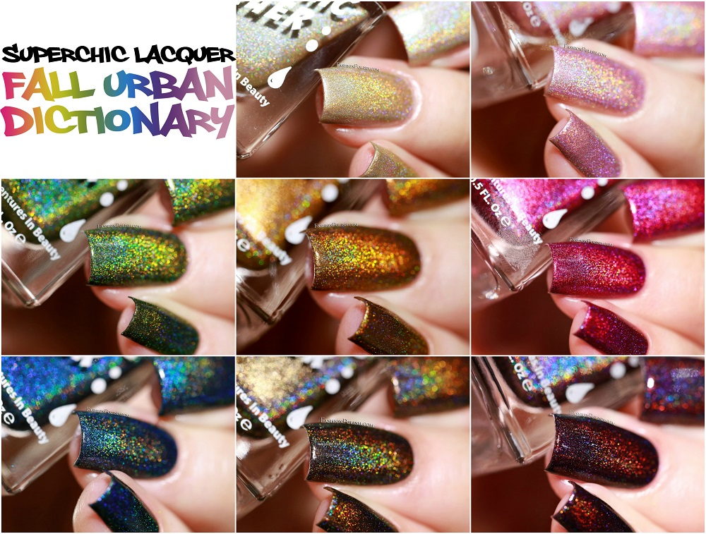 Superchic Lacquer Fall Urban Dictionary Collection Swatches Review