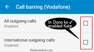 All outgoing calls or international outgoing calls enabled Kare