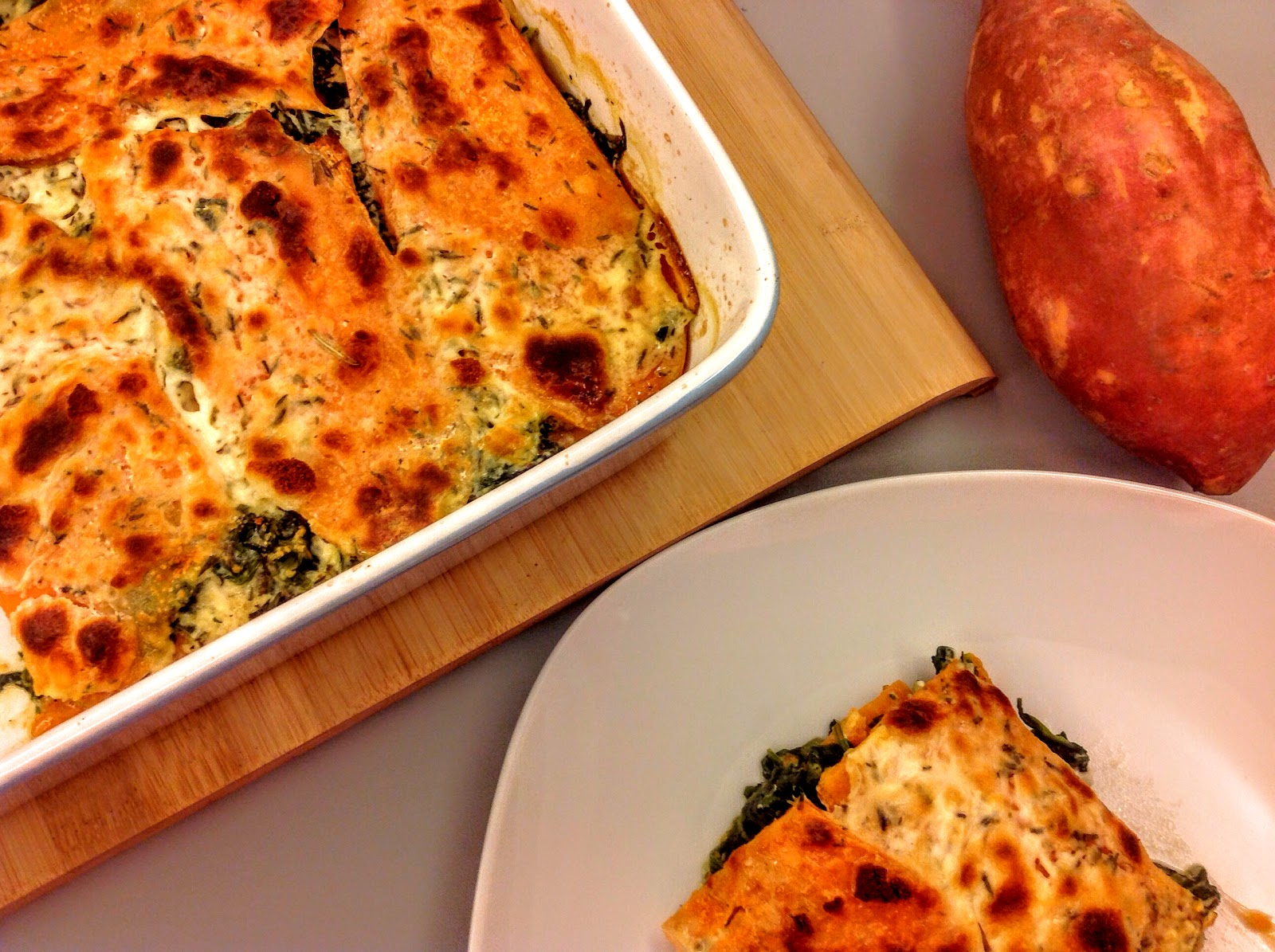 wechselzone s kartoffel spinat lasagne. Black Bedroom Furniture Sets. Home Design Ideas