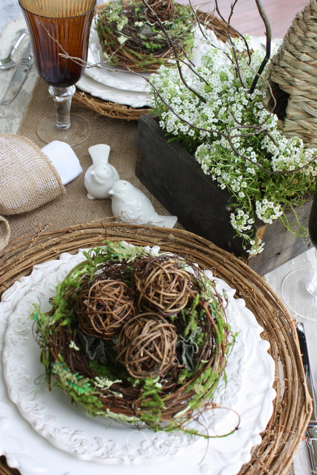 Spring Nesting Tablescape And Gwahm Giveaway Winner