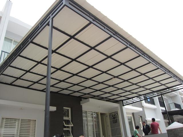 harga rangka atap baja ringan penutup rumah transparan tahan panas