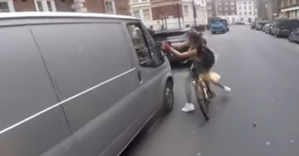 Cyclist Girl Gets Revenge On Catcalling Van Drivers