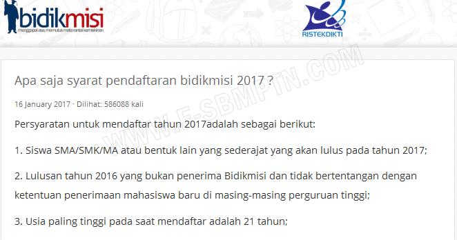 Syarat Pendaftaran Bidikmisi 2017 2018 Soal Sbmptn 2018 Dan Pembahasan Prediksi