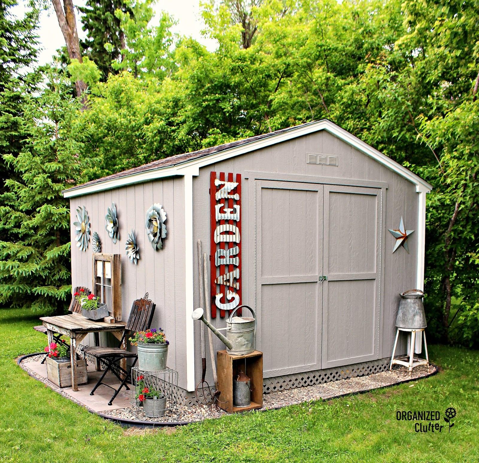 My New Junk Garden Shed   Organized Clutter