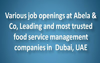 Various job openings at Abela & Co, Dubai