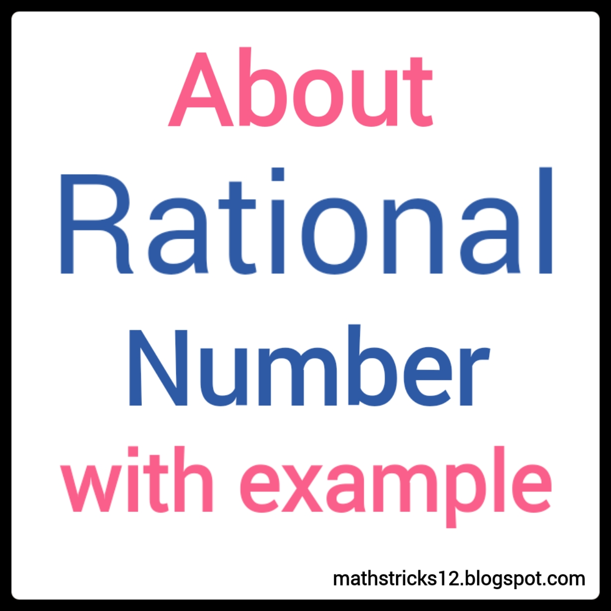 Rational Numbers Defination With Examples Maths Tricks In Hindi Learn Mathematic In Hindi