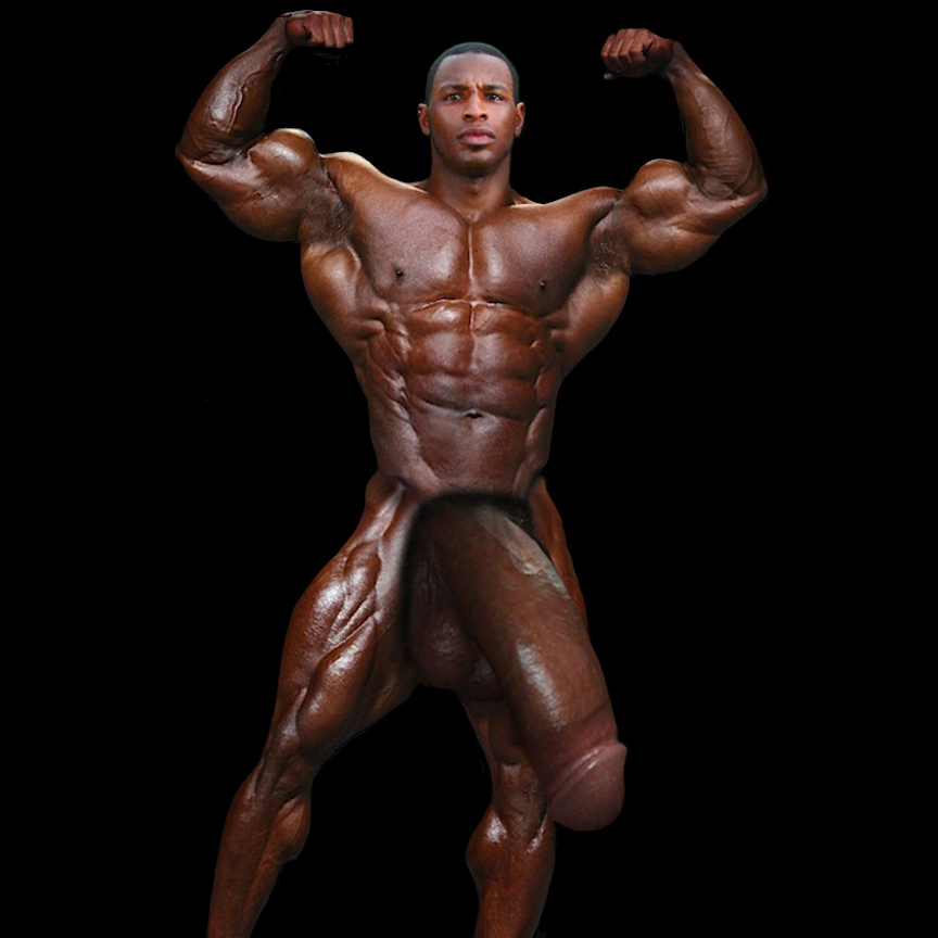 Bodybuilders who shave their cocks