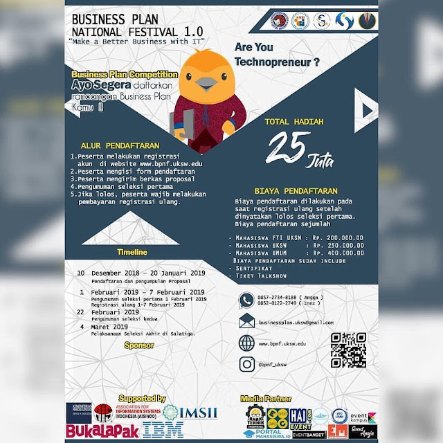 Lomba Business Plan National Festival 1.0 2019 Mahasiswa