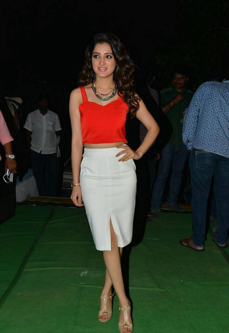 South Indian Actress Richa Panai Hot Photos In Pink Top White Skirt At Movie Function