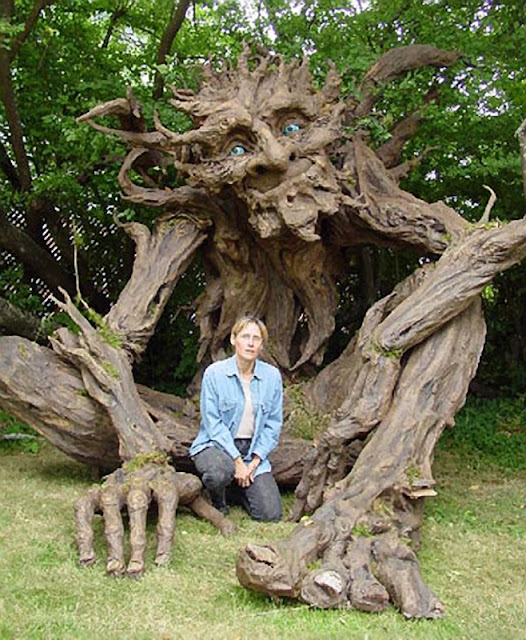Tree man sculpture