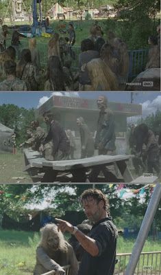 Le ridicole barriere anti-Zombie viste nella puntata
