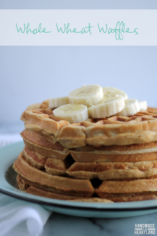 Healthy Whole Wheat Waffles Recipe with hidden veggies