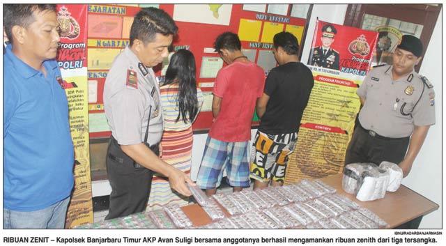 Hati Haulah (41) mungkin sudah mati. Ia tega meracuni warga Banjarbaru dengan obat terlarang Zenith. Tidak tanggung-tanggung warga Kelurahan Sungai Tiung RT23 No.5 Kecamatan Cempaka ini membawa 5.900 butir zenith yang siap diedarkan bersama rekannya Mardotillah (27) dan Najib (20).