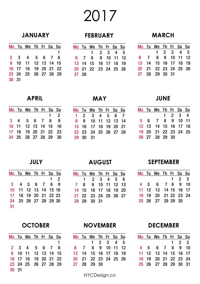 New York School Calendar Year 2017 Create Calendar View In Excel
