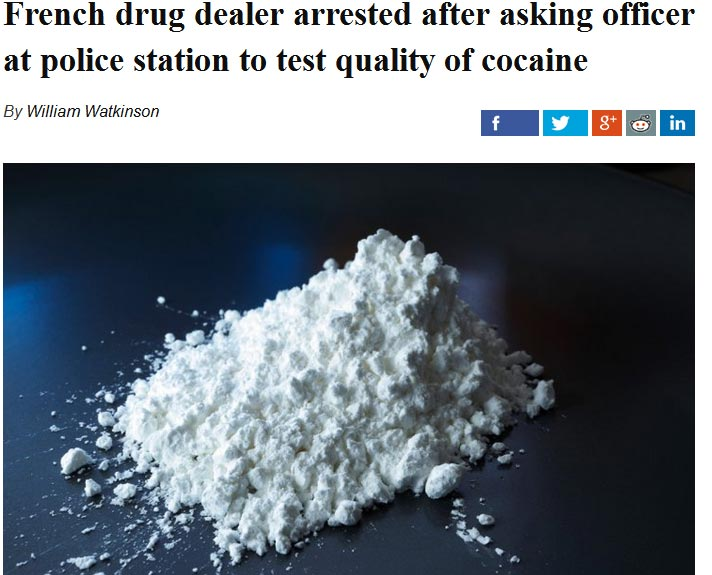 "Woman Brings Cocaine To Police Station For ""Quality Test,""  What Happened Next Will Amuse You"