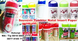 Jual Souvenir Tumbler Natal Insert Paper T88