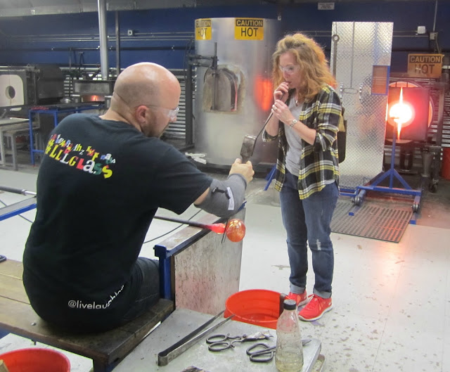 Fizzy Party at Live Love Laugh Glass glass blowing class