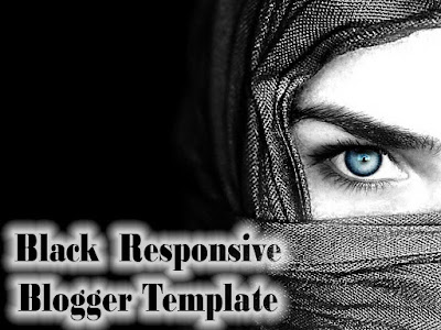 Black Color Responsive Blogger Templates