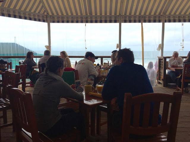 Inside Beachcomber Cafe Patio