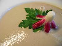 Photo soupe froide de radis recette sans gluten sans laitage et sans sucre
