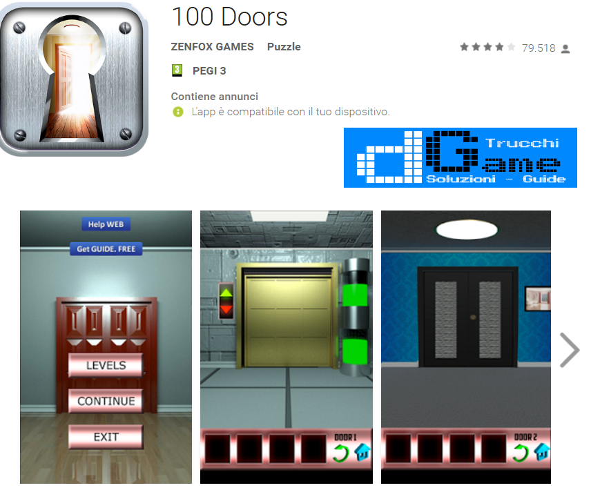 Soluzioni 100 Doors di tutti i livelli | Walkthrough guide
