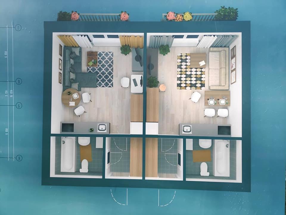4-х поверхових будинків з квартирами-студіо для сержантів