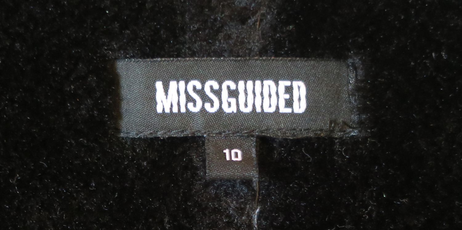 missguided black faux shearling jacket